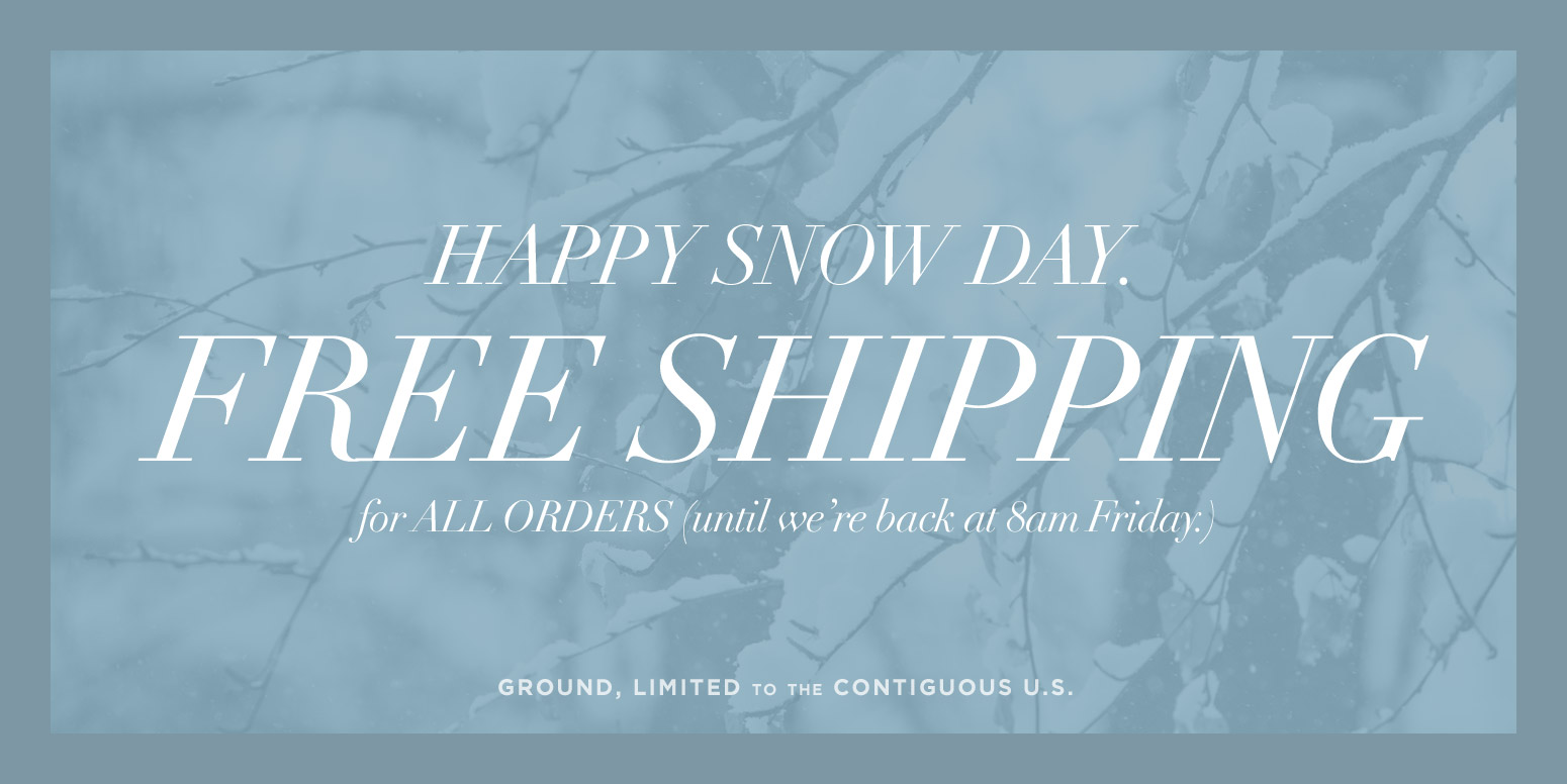 Snow Day Free Shipping