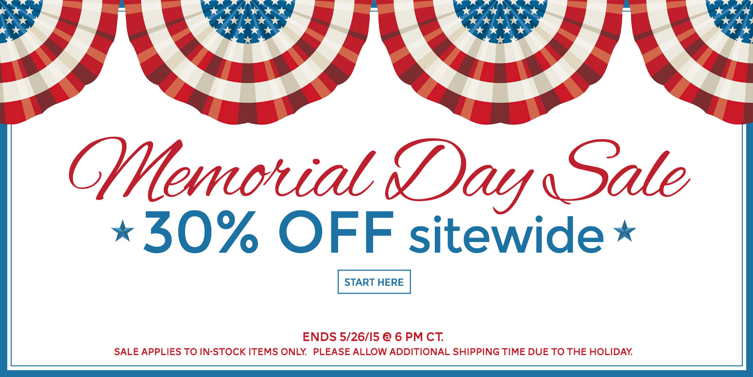 30% off sitewide - Memorial Day