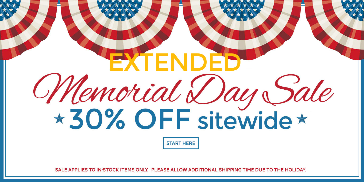 30% off sitewide - Memorial Day extended