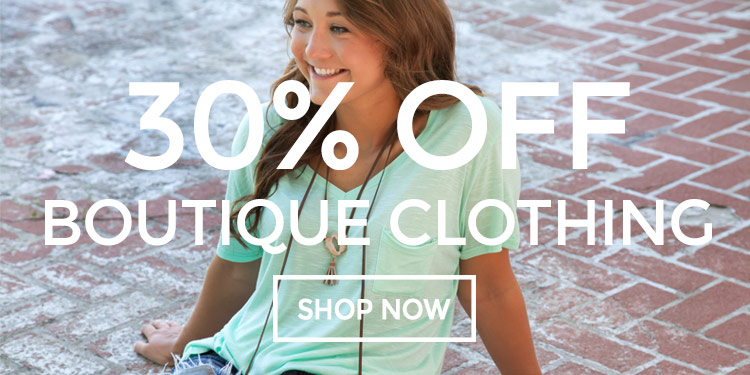 6-16 30% off all Boutique Clothing in June 2