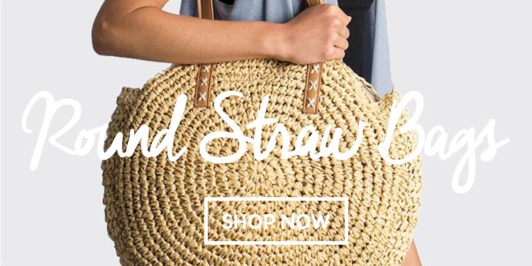 7-18 Round Straw Bags