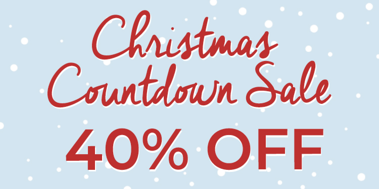 40% Off Christmas Countdown Banner