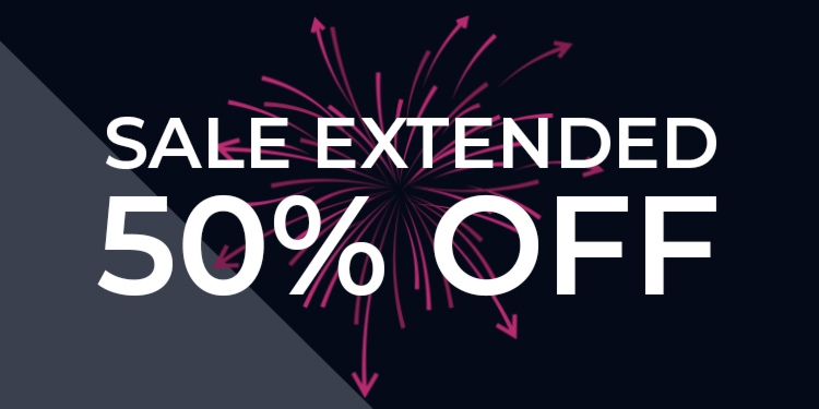 50% Sale Extended
