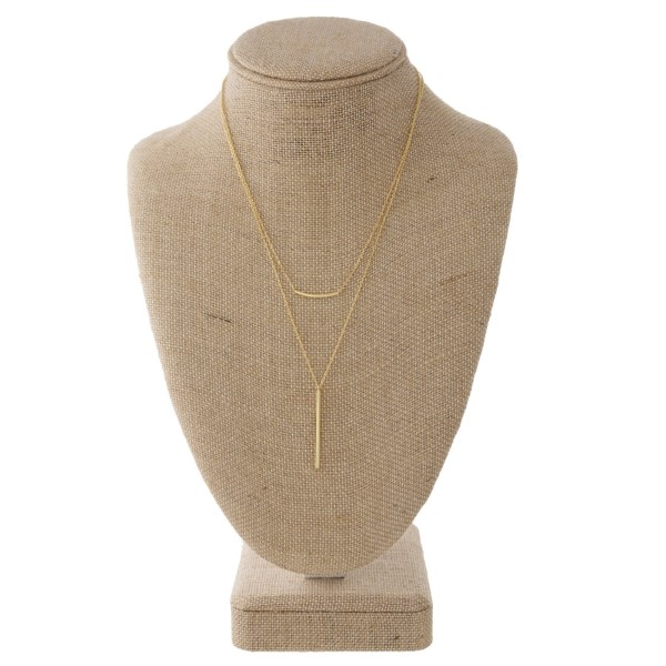 Wholesale dainty layered necklace bar pendant
