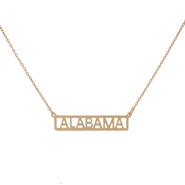 Wholesale dainty necklace bar pendant stamped state cut outs