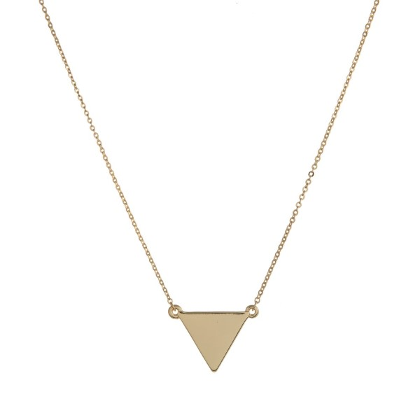 Wholesale dainty metal necklace triangle