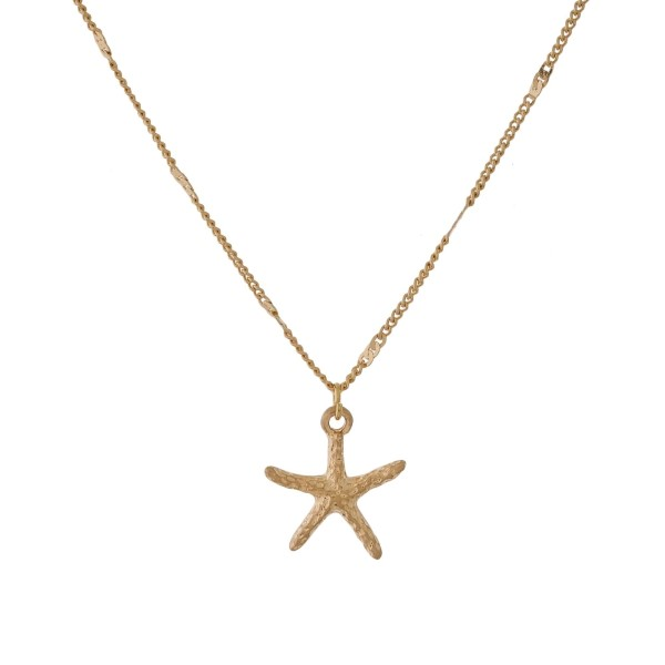 Wholesale dainty necklace starfish pendant
