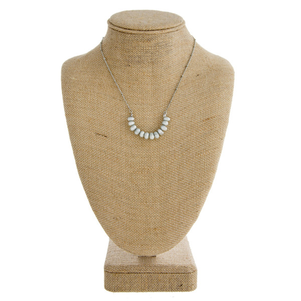 """Dainty necklace with freshwater pearl detail. Approximately 16"""" in length."""
