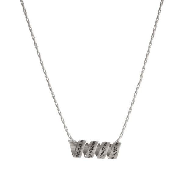 Wholesale dainty necklace twisted bar stamped Be still
