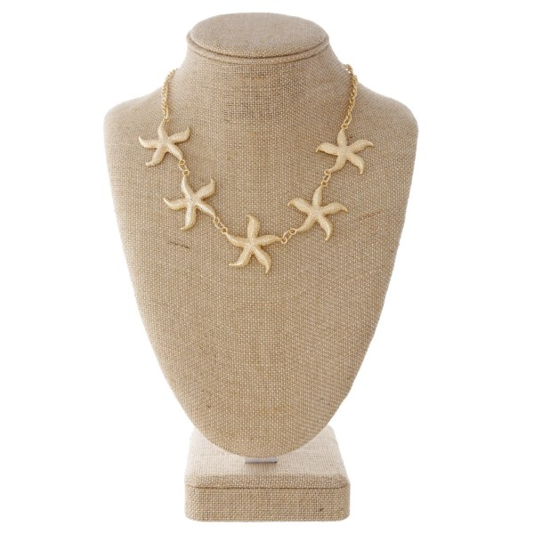 "Short starfish necklace. Approximately 18"" in length."