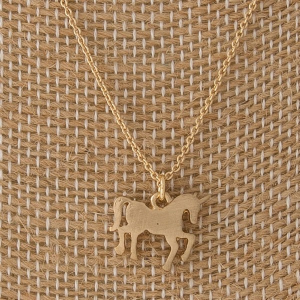 "Dainty necklace with unicorn charm. Approximately 16"" in length."