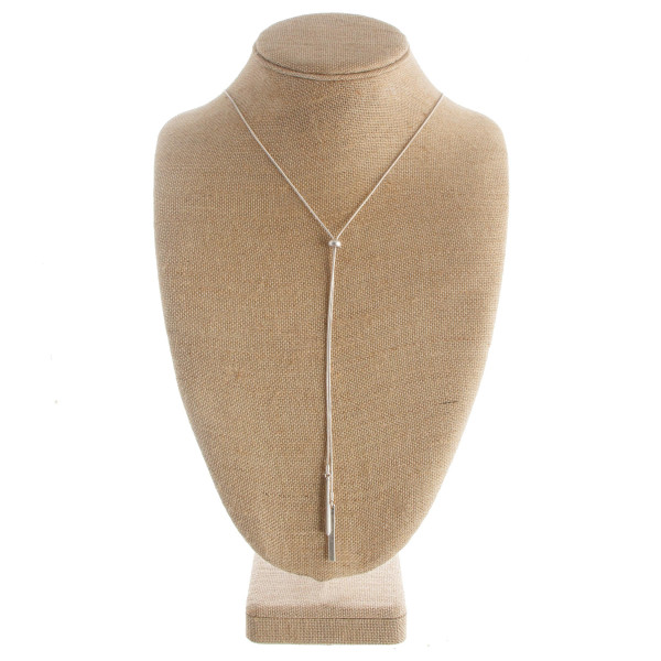 "Long ""Y"" shaped necklace with tassel. Approximate 30"" in length with a 1.5"" pendant."