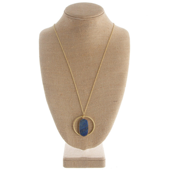 """Long necklace with acetate pendant. Approximate 32"""" in length and 2"""" pendant."""