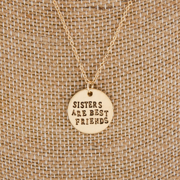 "Cute long necklaces with pendant positive messages. Approximate 22"" in length with .5 pendant."