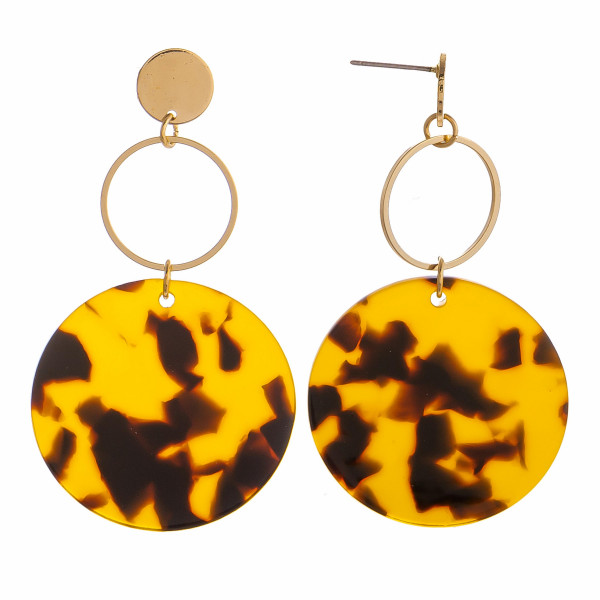 Wholesale gorgeous acetate hoop earring metal gold hoop earring Approximate