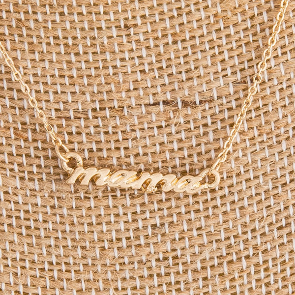 """Gorgeous long metal """"Mama"""" Necklaces. Perfect for everyday wear. Approximate 16"""" in length with 1"""" pendant."""