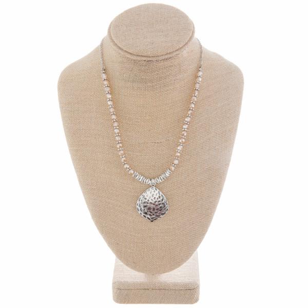 Wholesale enjoy gorgeous chain beaded necklace double drop pendants Approximate