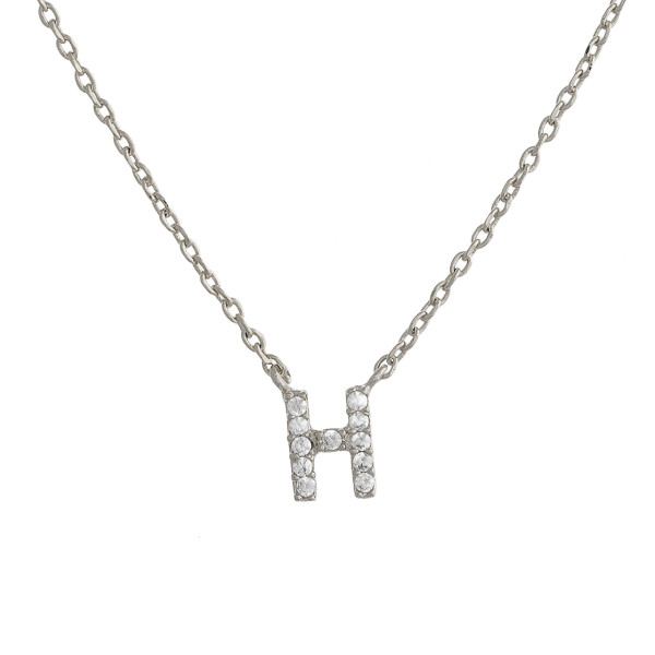 """Gold dipped necklace with initial """"H"""" pendant. Approximate 20"""" in length with 0.5"""" pendant."""