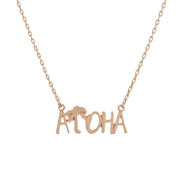 """Gorgeous short inspirational message necklace.  Approximate 18: with 1"""" pendant.  Aloha"""
