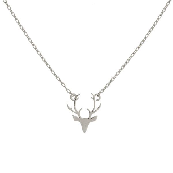 "Have a love for deers? Or do you love to hunt! You will not go wrong with this fabulous gold dipped chocker/collar necklace with deer head with horns pendants. Very gorgeous and light weight. Approximate 16"" in length. .5"" pendant."