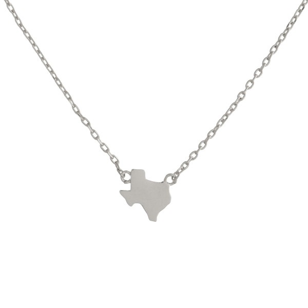 "You will not go wrong showing off your state pride with this fabulous gold dipped chocker/collar necklace with your favorite state as your pendants. Very gorgeous and light weight. Approximate 16"" in length. .5"" pendant."