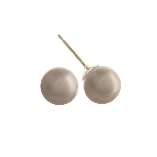 "Stud pearl earrings. Approximate .75""cm."