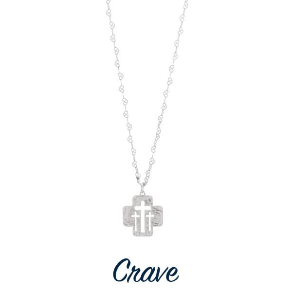 Wholesale gorgeous short necklace cut out triple cross pendant Approximate penda