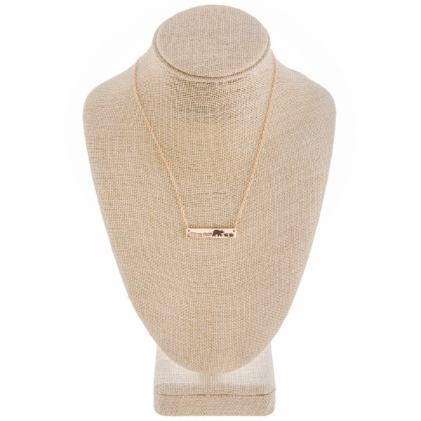 """Long metal necklace with Mama bear and her Cubs. Approximate 18"""" in length."""