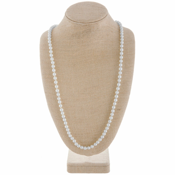 """Long pearl necklace. Approximate 40"""" in length."""