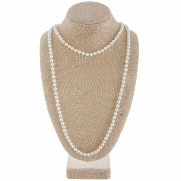 """Long layered pearl necklace. Approximate 30"""" in length."""