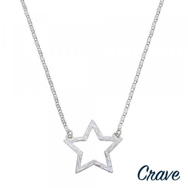 "Valentino chain necklace featuring a star pendant. Pendant approximately 1"".  Approximately 18"" in length overall."