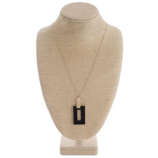 Wholesale fur faux leather snakeskin metal square encased pendant Pendant overal