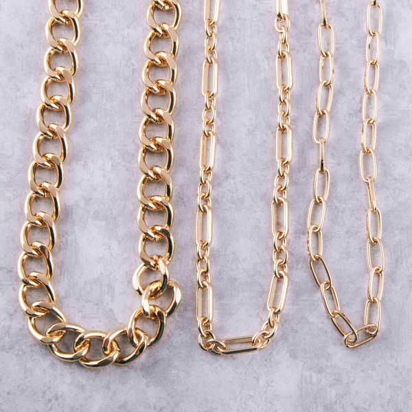 """Chain link necklace.  - Approximately 16"""" L - 3.5"""" extender"""