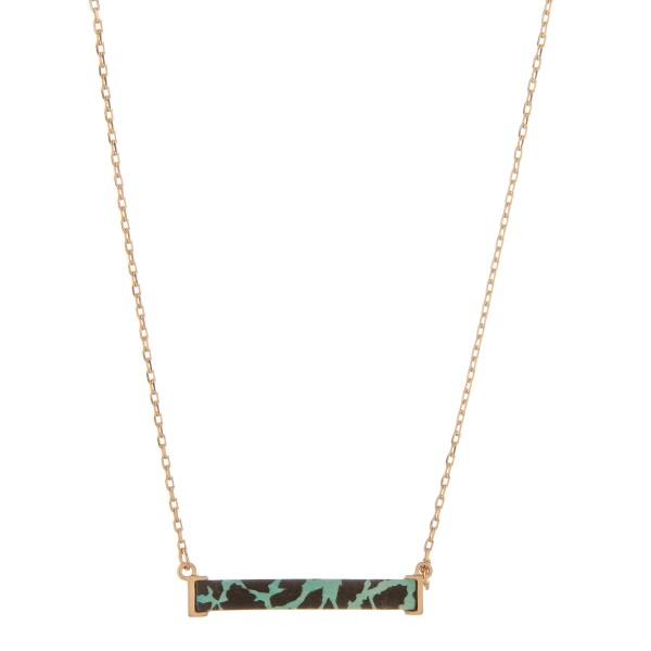 """Animal print wood encased bar necklace.  - Pendant approximately 1.5""""  - Approximately 14"""" in length with 3"""" extender"""