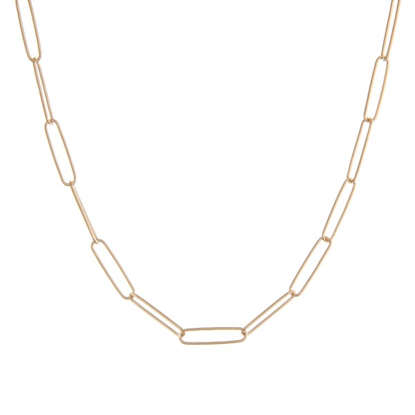 """Gold brass cable chain necklace.  - Approximately 14"""" in length with 3"""" extender"""
