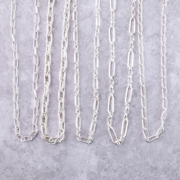 """Silver twisted cable chain necklace.  - Approximately 16"""" L with 3"""" extender"""