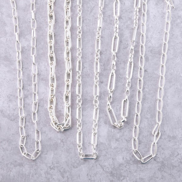 """Gauge wire linked necklace.  - Approximately 16"""" L  - 2.5"""" extender"""