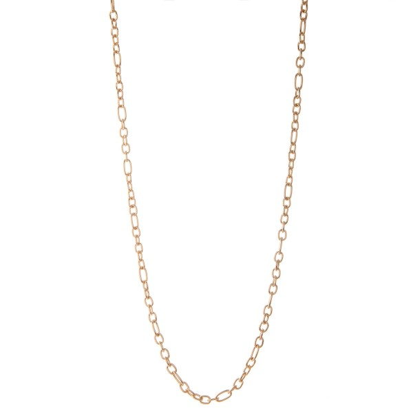 """Long chain link necklace.  - Approximately 30"""" L  - 3"""" extender"""