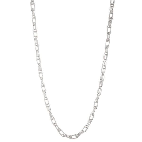 """Long doubled cable linked necklace.  - Approximately 30"""" L  - 3"""" extender"""