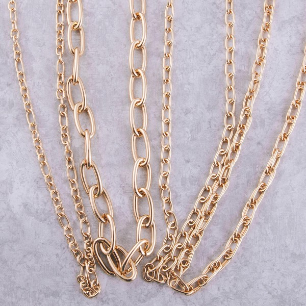 """Long gold cable chain necklace.  - Approximately 30"""" L with 3"""" extender"""