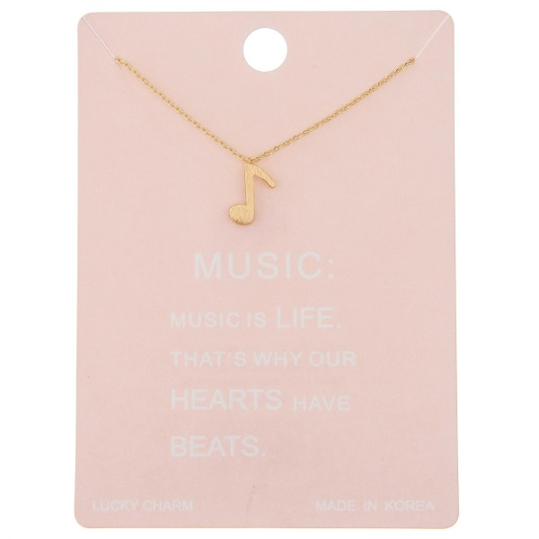 """Dainty music note lucky charm necklace.  - Pendant approximately 1cm - Approximately 16"""" L - 2"""" extender"""