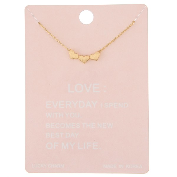 "Dainty heart lucky charm necklace.  - Pendant approximately .75"" - Approximately 16"" L - 2"" extender"