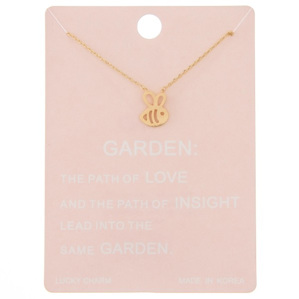 """Dainty bumblebee lucky charm necklace.  - Pendant approximately 1cm - Approximately 16"""" L - 2"""" extender"""