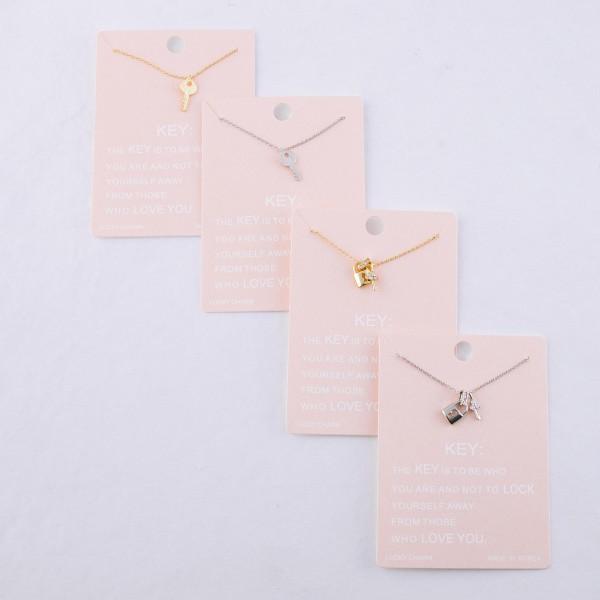 """Dainty key lucky charm necklace.  - Pendant approximately 1cm - Approximately 16"""" L - 2"""" extender"""