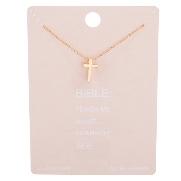 "Dainty cross lucky charm necklace.  - Pendant approximately 1cm - Approximately 15"" L with 2"" extender"