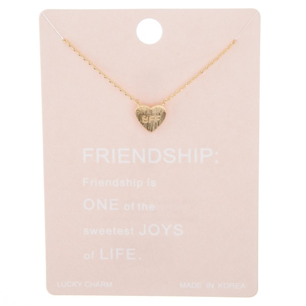 "Dainty BFF heart lucky charm necklace.  - Pendant approximately 1cm - Approximately 15"" L with 2"" extender"