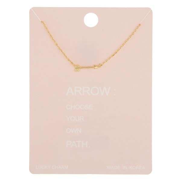"Dainty arrow lucky charm necklace.  - Pendant approximately 12mm - Approximately 16"" in length with 2"" extender"
