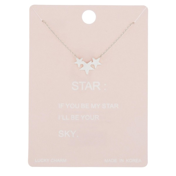 "Dainty star lucky charm necklace.  - Pendant approximately .5""  - Approximately 16"" in length with 2"" extender"