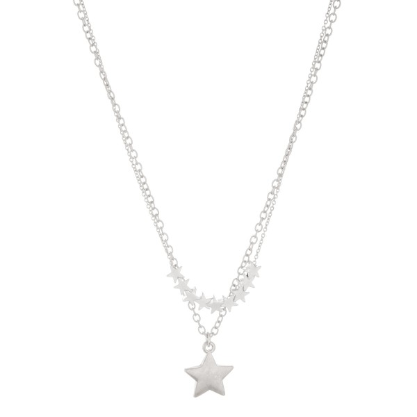 """Layered star beaded necklace.  - Approximately 18"""" L - 3"""" extender"""