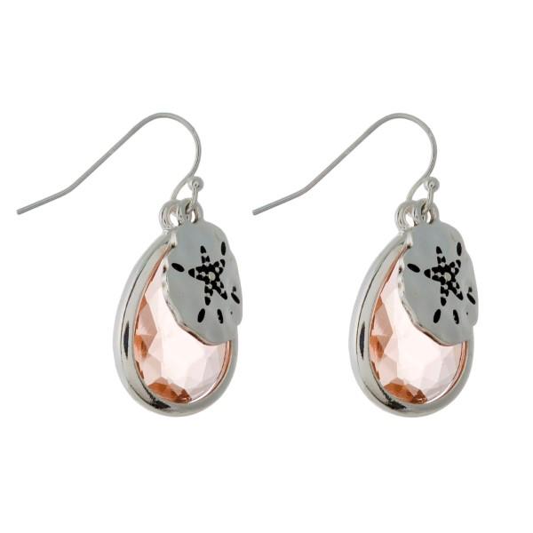 Wholesale silver fishhook earring sea life charm